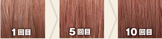 ライトブラウン(利尻カラーシャンプーで染めた髪色見本)