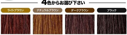 利尻カラーシャンプー4色の見本色