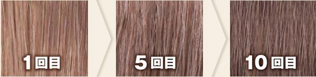 ダークブラウン(利尻カラーシャンプーで染めた髪色見本)