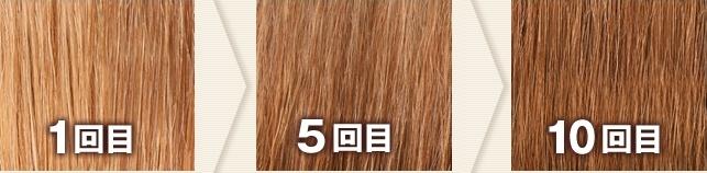 ナチュラルブラウン(利尻カラーシャンプーで染めた髪色見本)